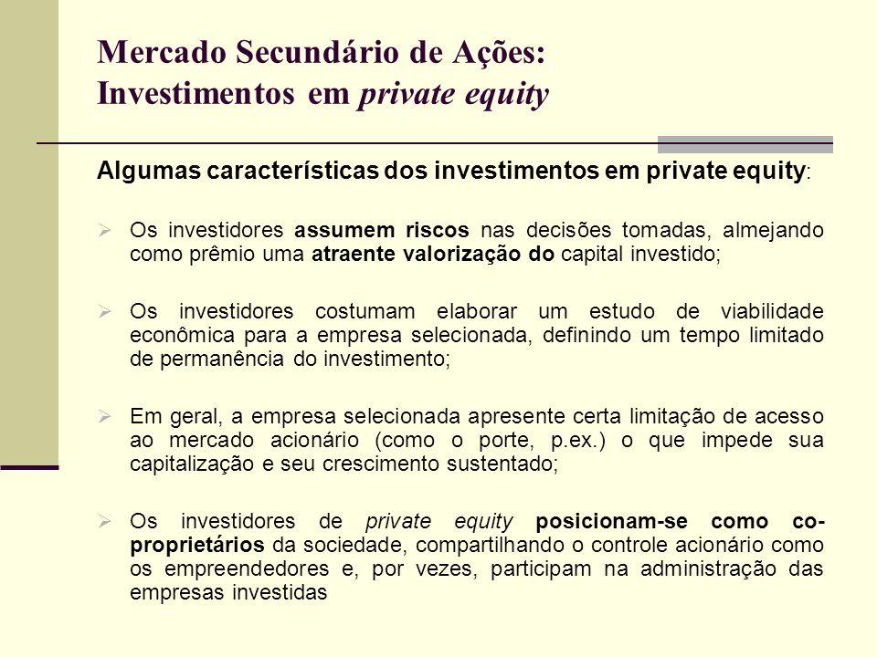 Mercado Secundário de Ações: Investimentos em private equity