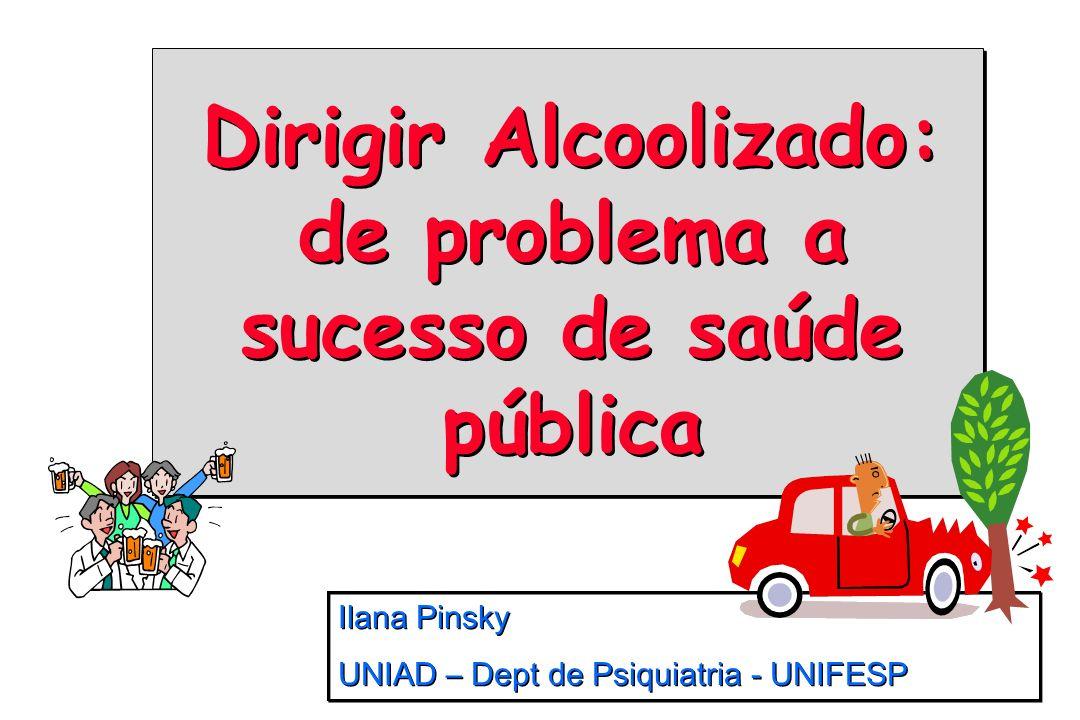 Dirigir Alcoolizado: de problema a sucesso de saúde pública