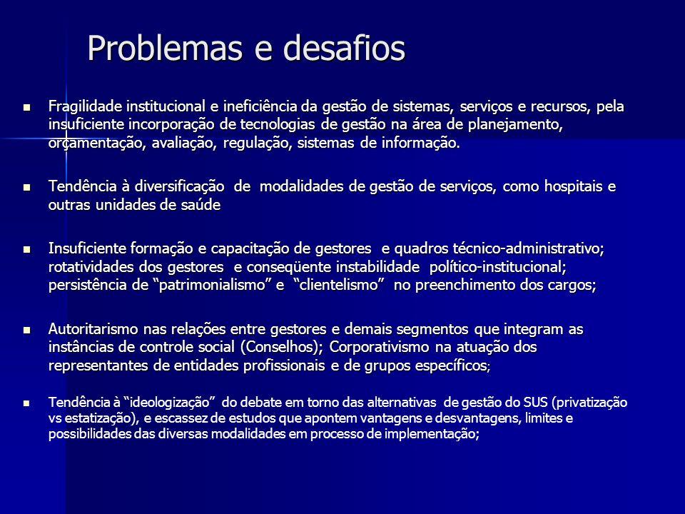 Problemas e desafios