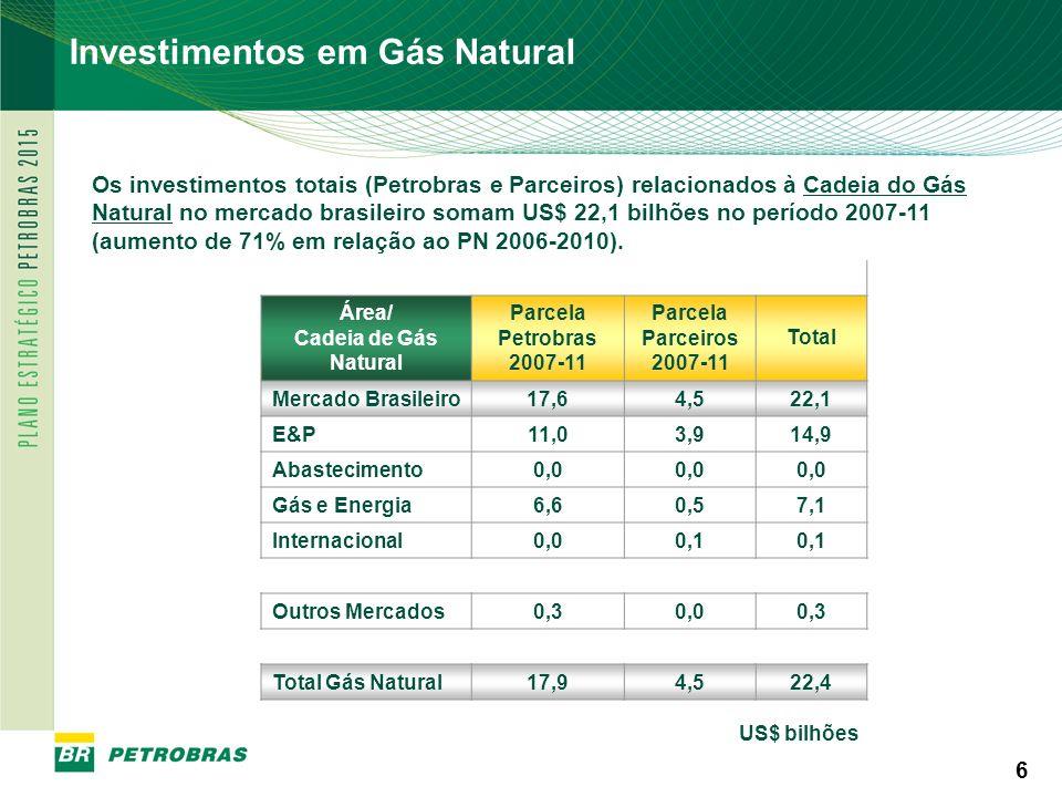 Investimentos em Gás Natural