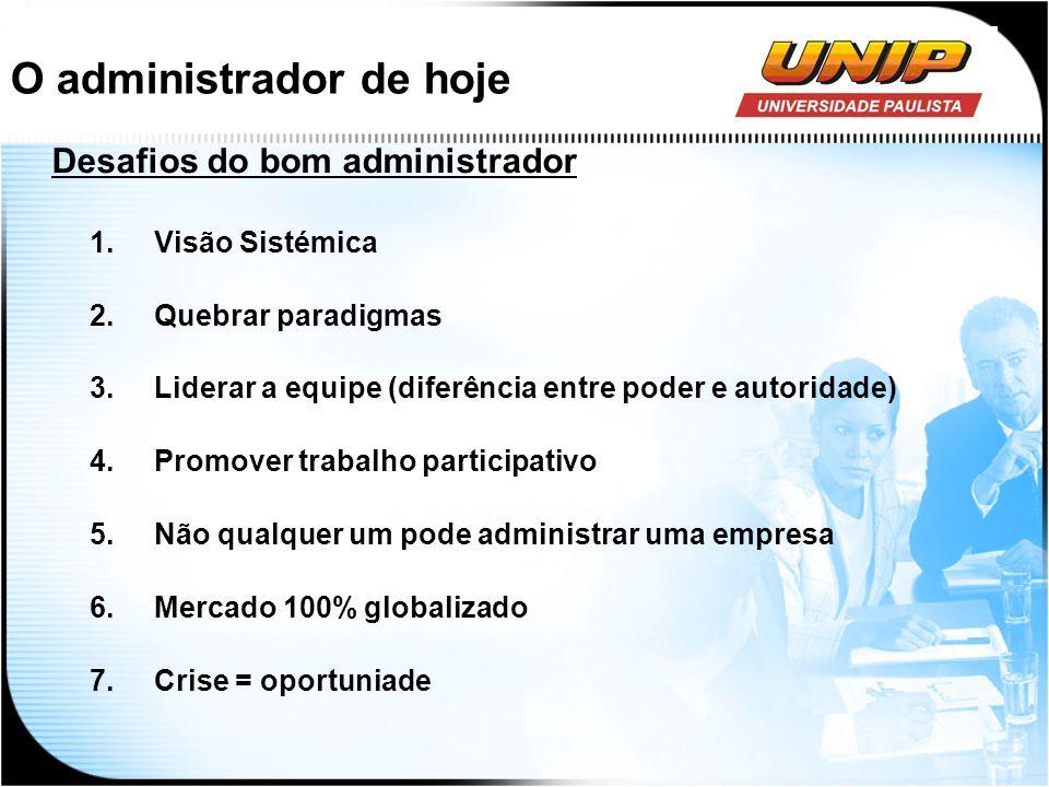 O administrador de hoje