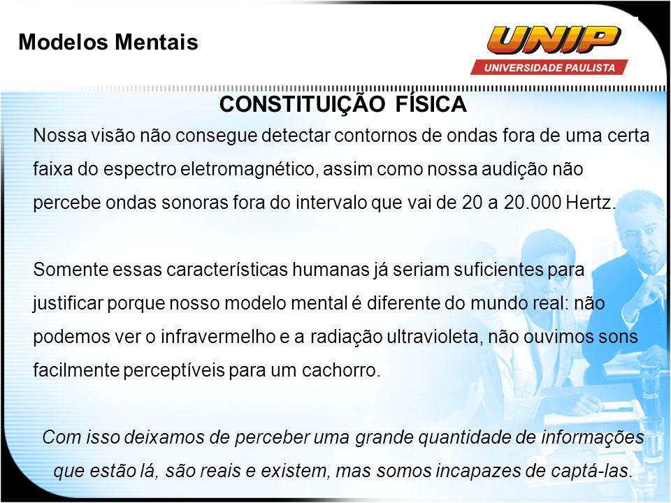 Modelos Mentais CONSTITUIÇÃO FÍSICA