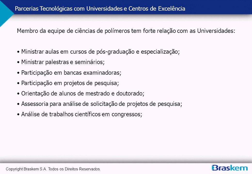 Parcerias Tecnológicas com Universidades e Centros de Excelência