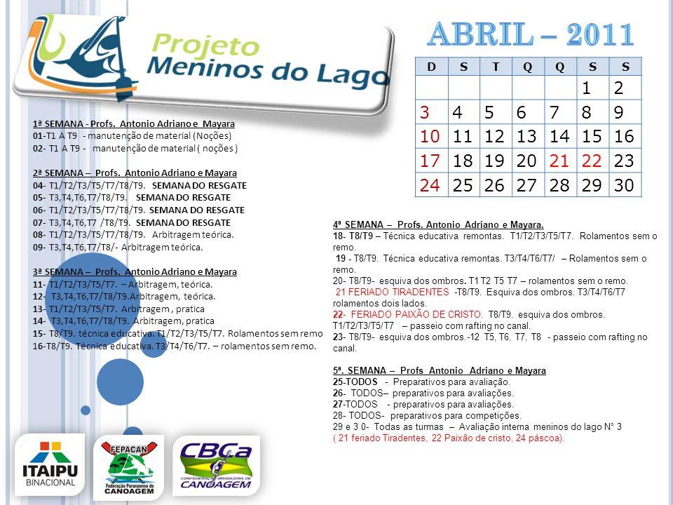 abril – 2011D. S. T. Q. 1. 2. 3. 4. 5. 6. 7. 8. 9. 10. 11. 12. 13. 14. 15. 16. 17. 18. 19. 20. 21. 22.