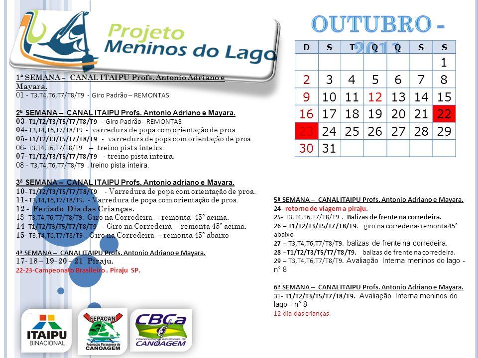 Outubro -2011 D. S. T. Q. 1. 2. 3. 4. 5. 6. 7. 8. 9. 10. 11. 12. 13. 14. 15. 16.