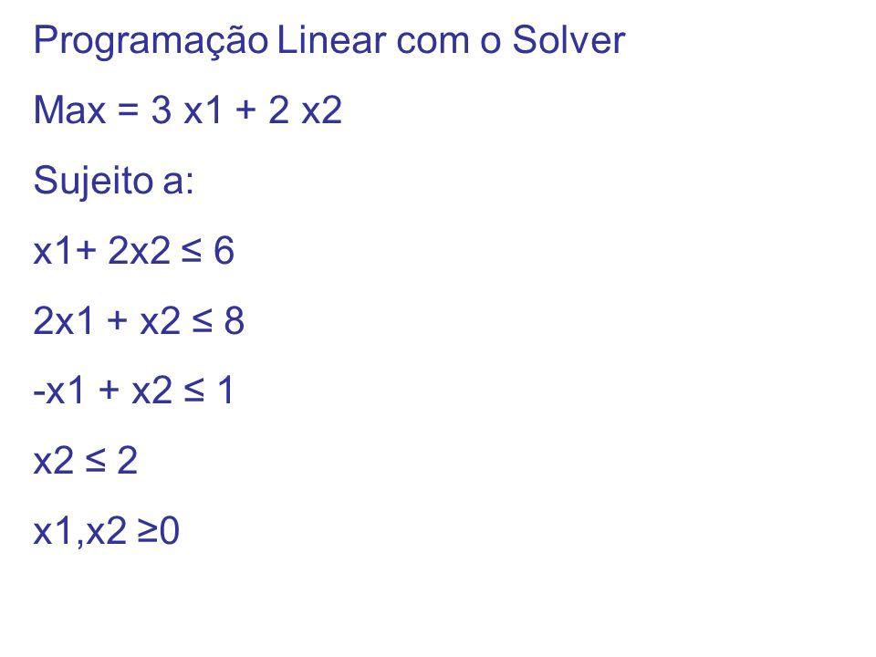 Programação Linear com o Solver