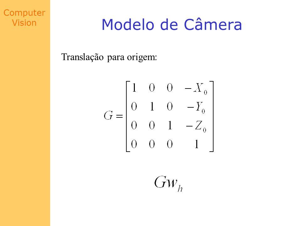 Modelo de Câmera Translação para origem: