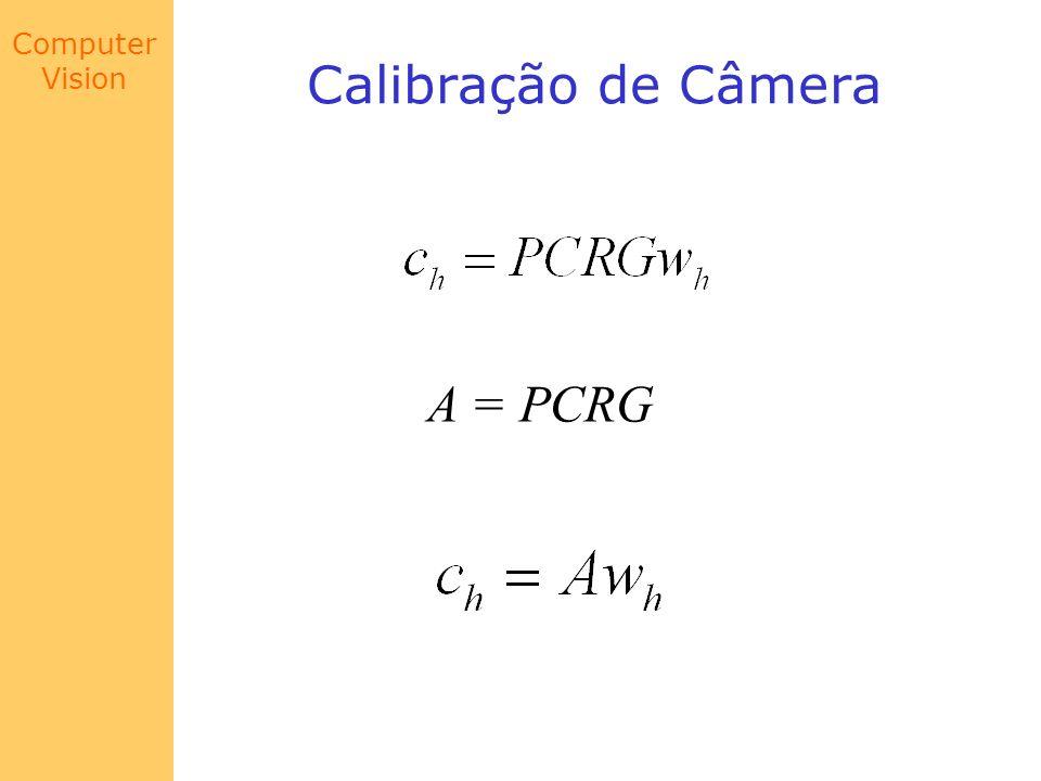 Calibração de Câmera A = PCRG