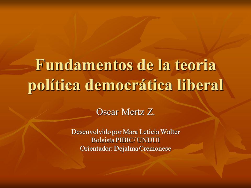 Fundamentos de la teoria política democrática liberal