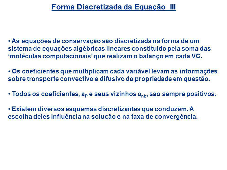Forma Discretizada da Equação III