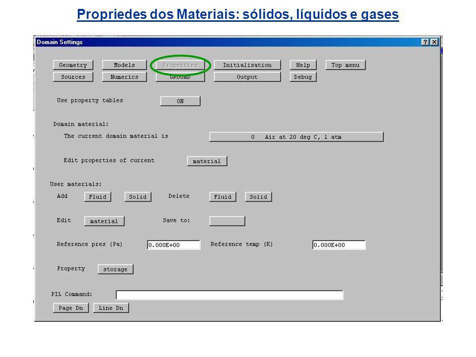 Propriedes dos Materiais: sólidos, líquidos e gases