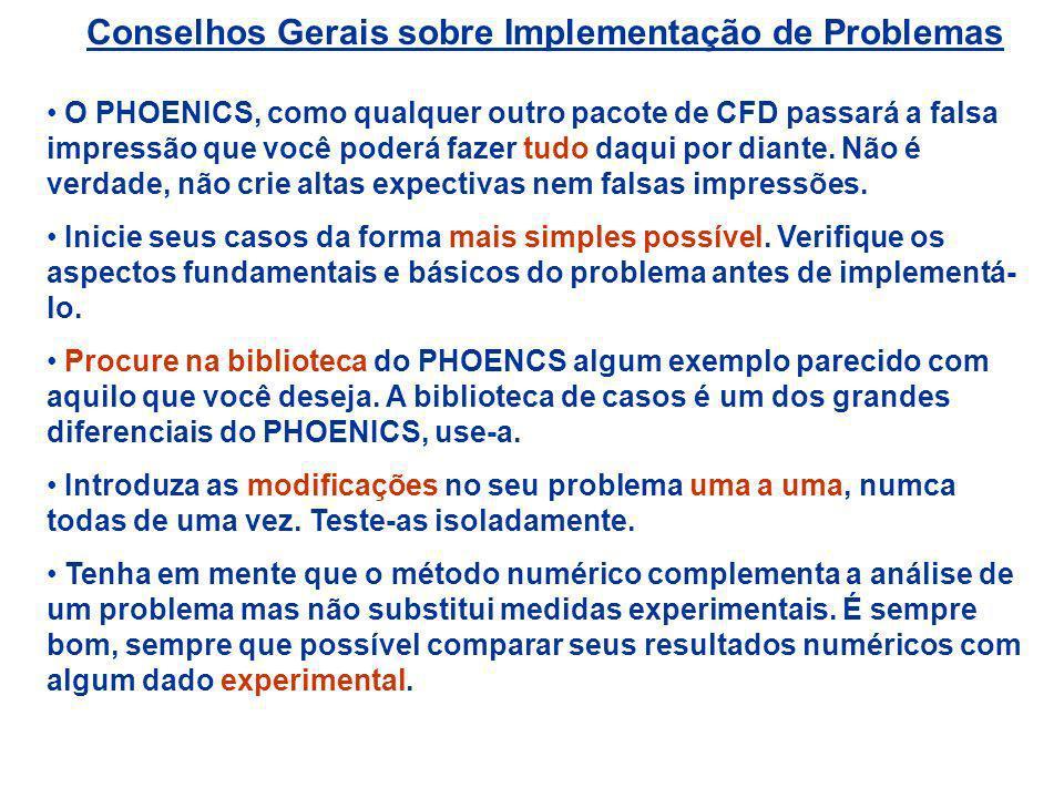 Conselhos Gerais sobre Implementação de Problemas