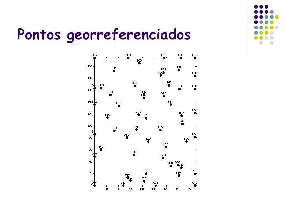 Pontos georreferenciados