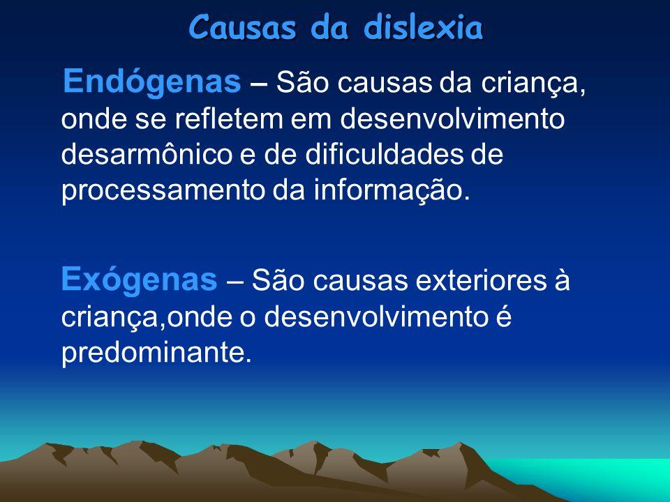 Causas da dislexia