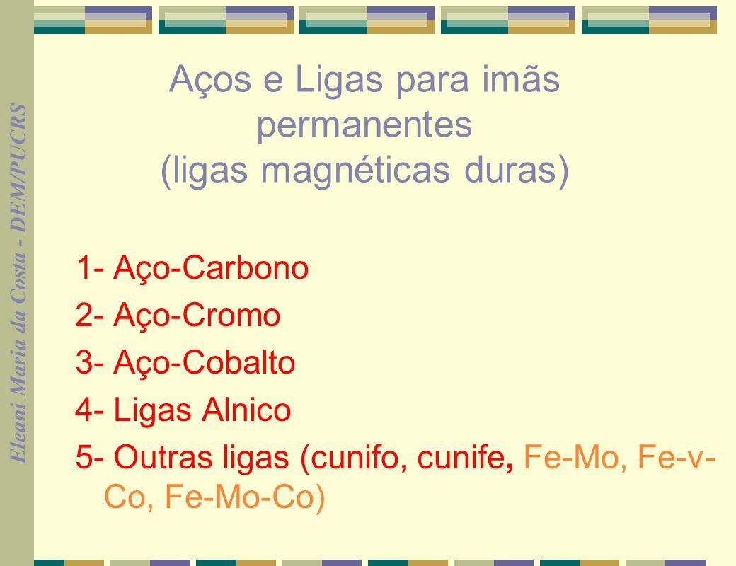 Aços e Ligas para imãs permanentes (ligas magnéticas duras)