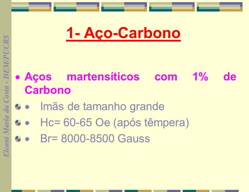 1- Aço-Carbono · Aços martensíticos com 1% de Carbono