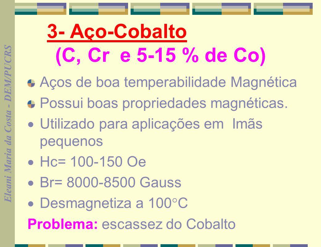 3- Aço-Cobalto (C, Cr e 5-15 % de Co)