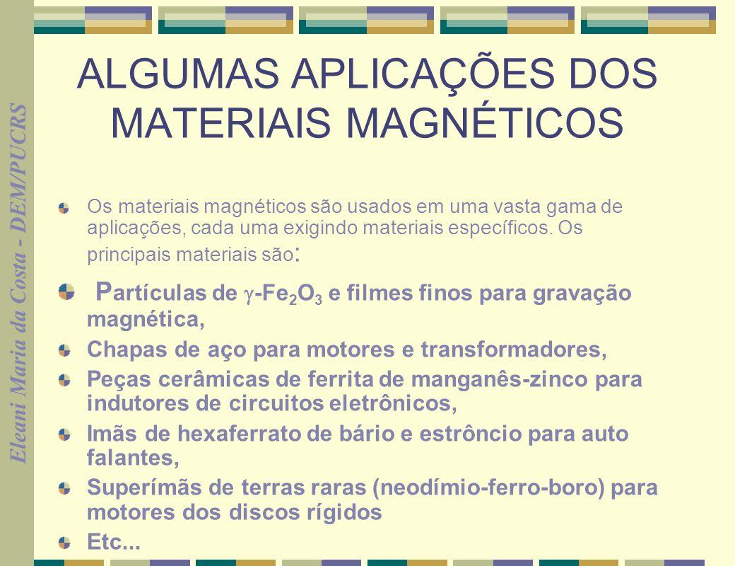 ALGUMAS APLICAÇÕES DOS MATERIAIS MAGNÉTICOS