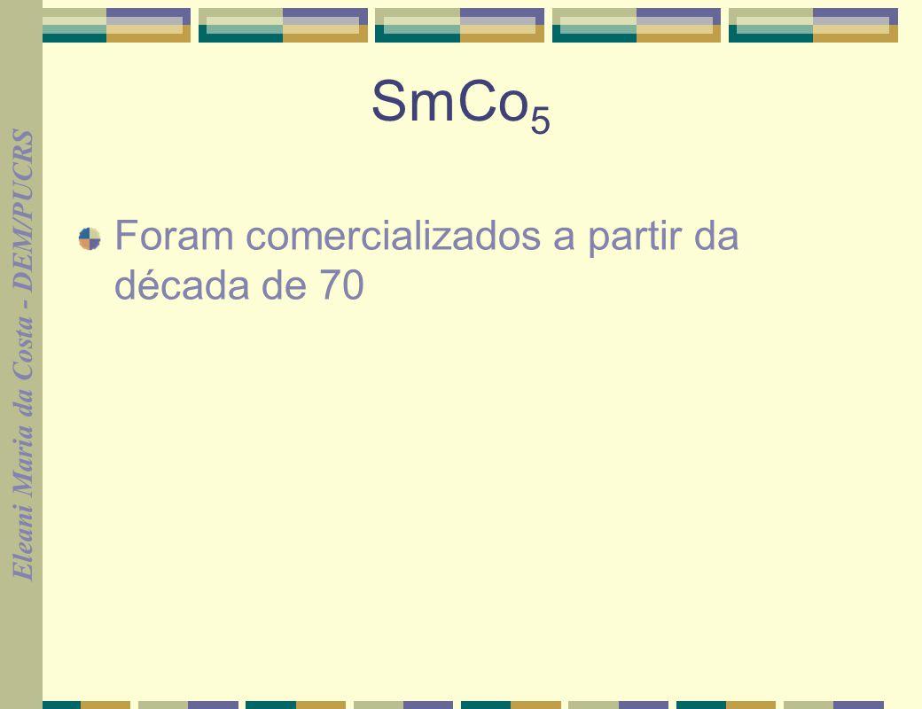 SmCo5 Foram comercializados a partir da década de 70