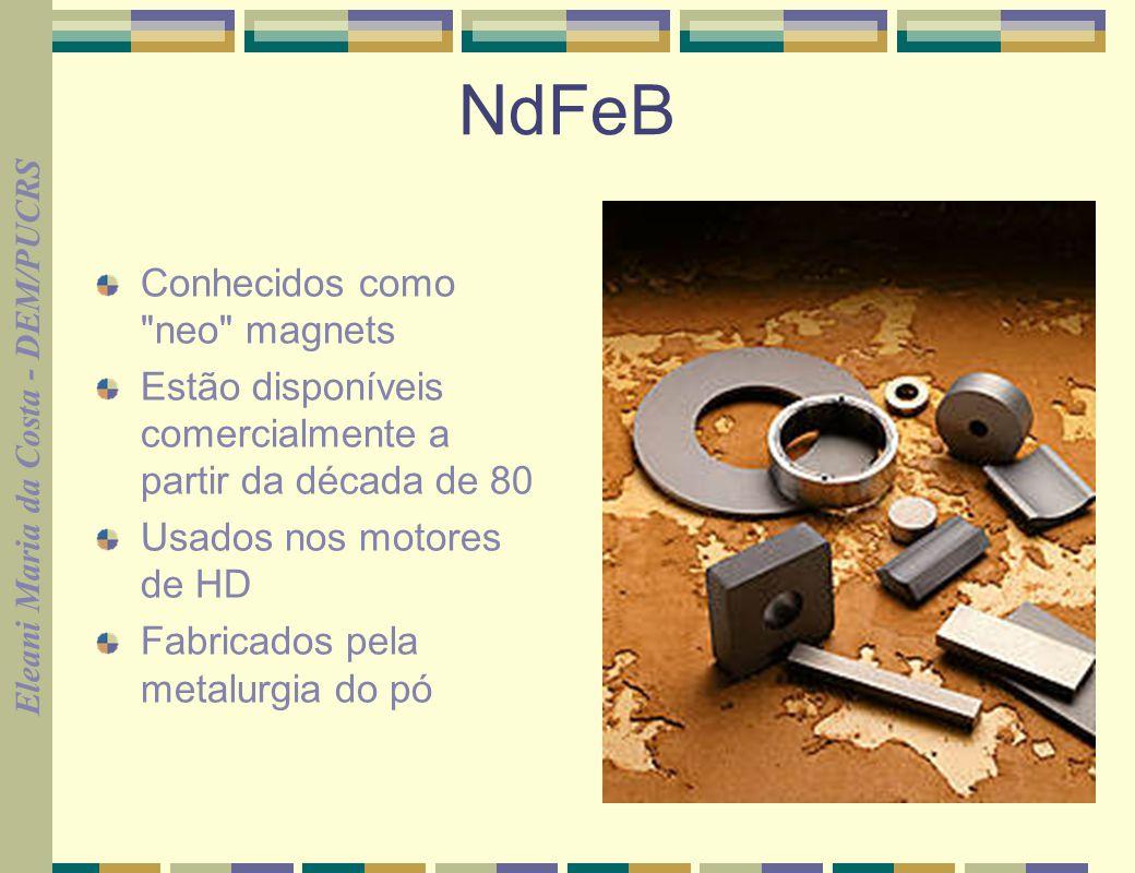 NdFeB Conhecidos como neo magnets