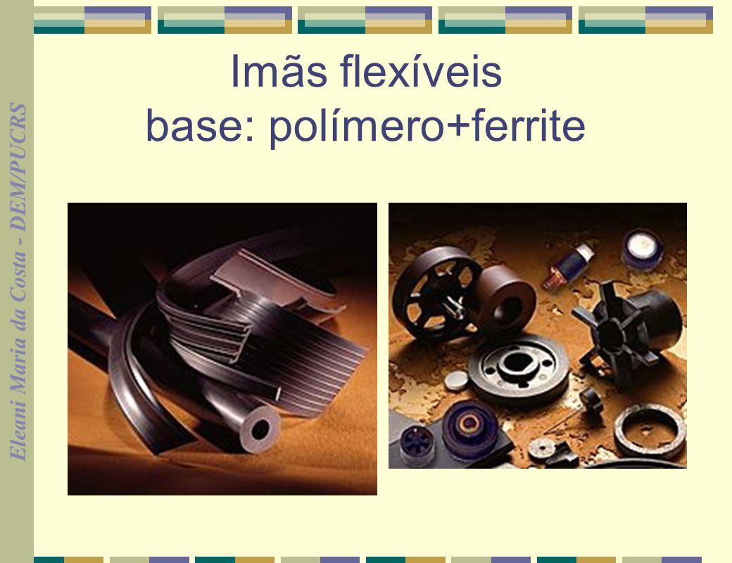 Imãs flexíveis base: polímero+ferrite