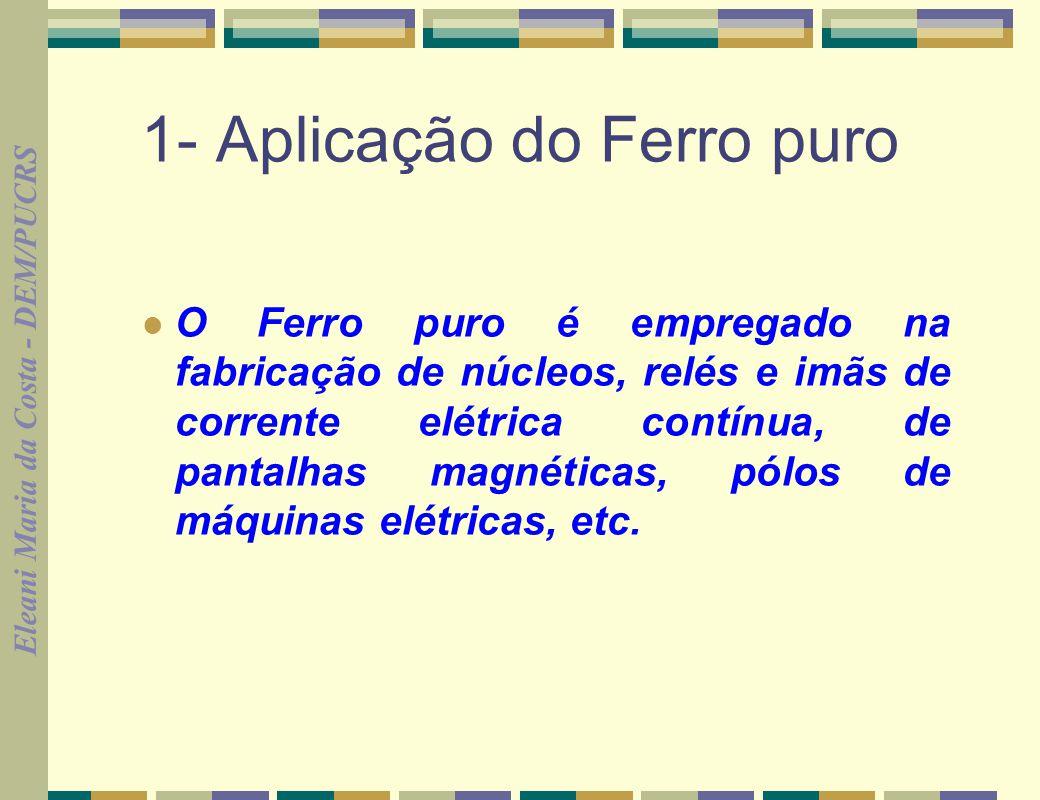 1- Aplicação do Ferro puro