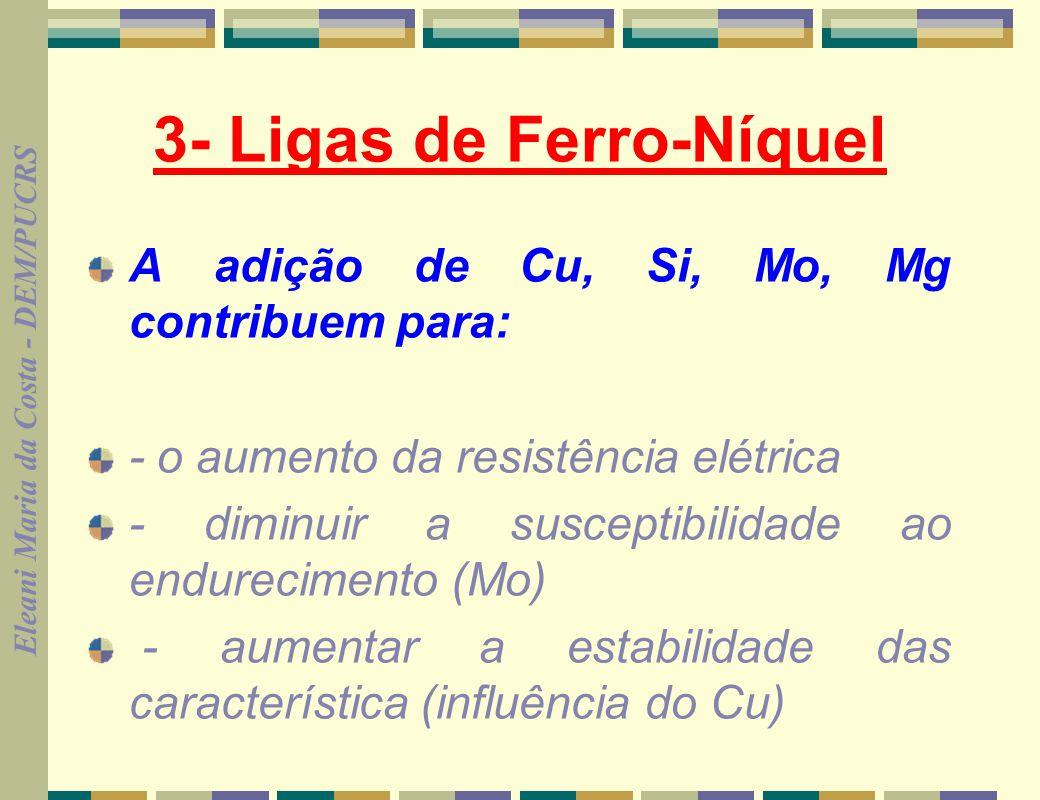 3- Ligas de Ferro-Níquel