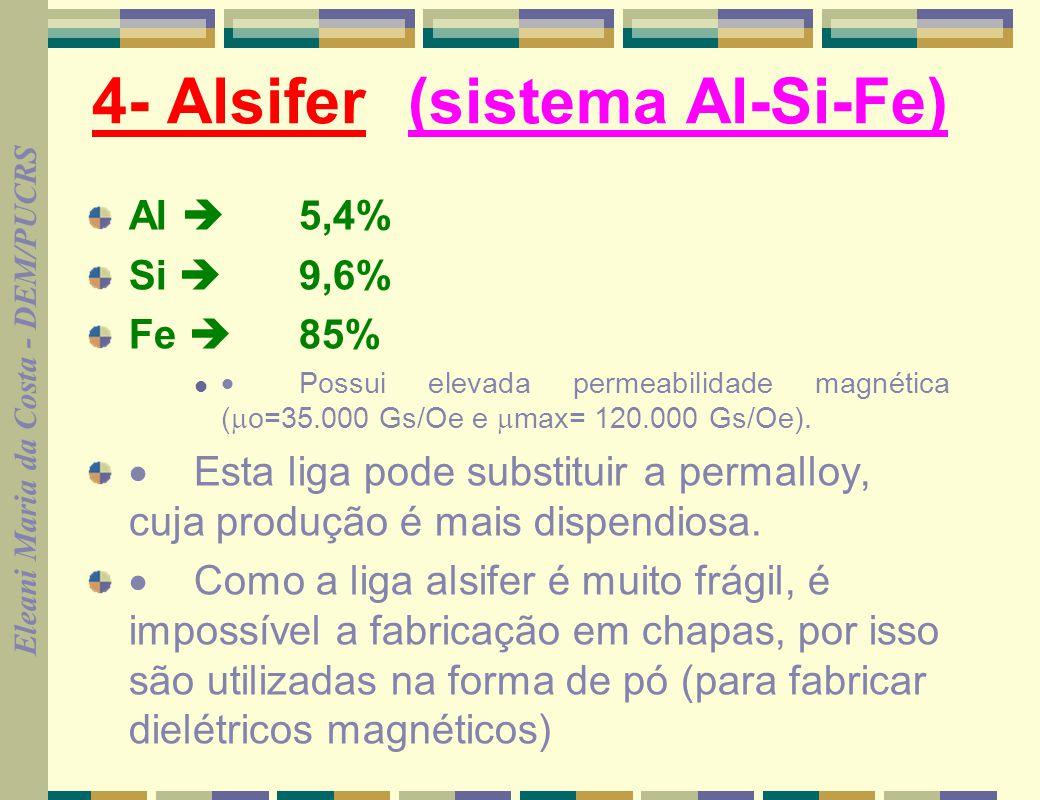 4- Alsifer (sistema Al-Si-Fe)