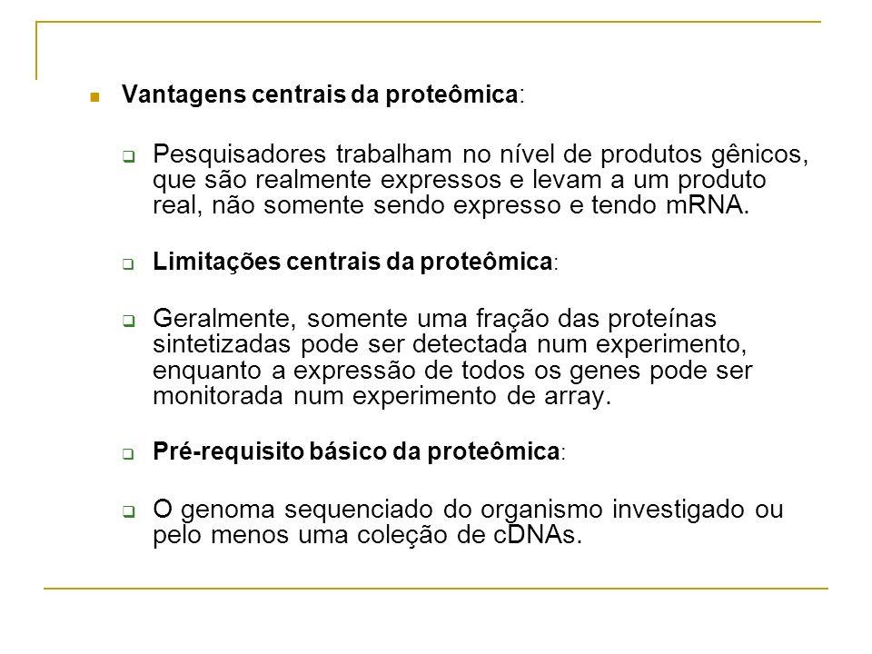 Vantagens centrais da proteômica:
