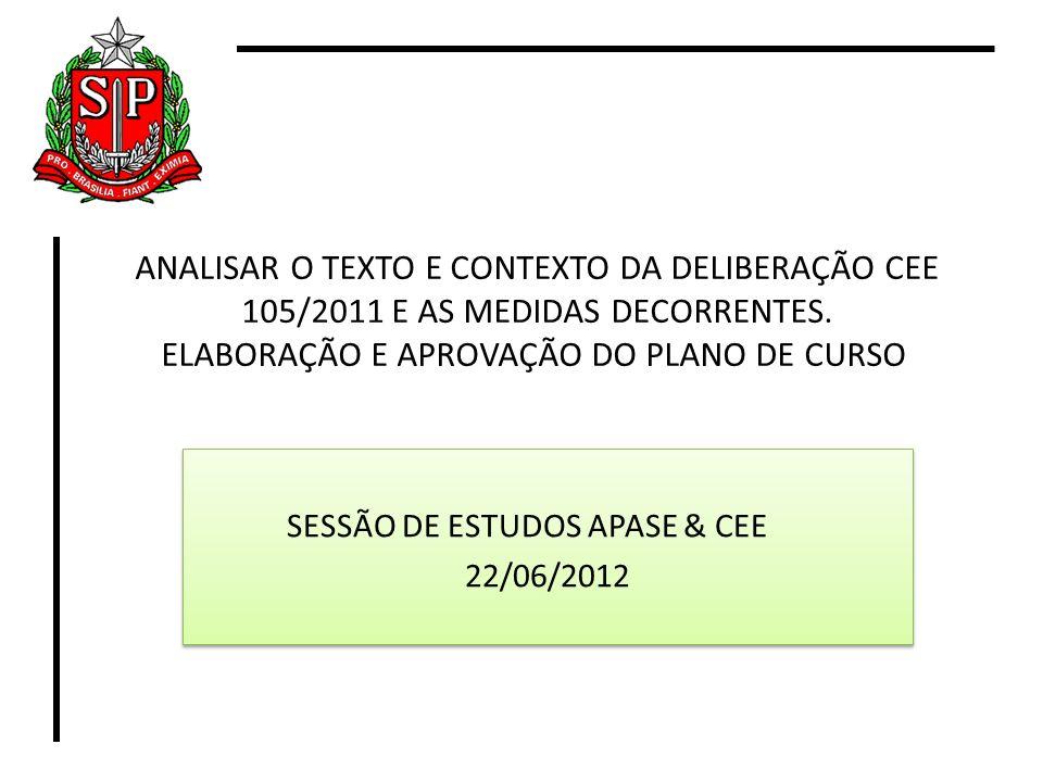 SESSÃO DE ESTUDOS APASE & CEE 22/06/2012
