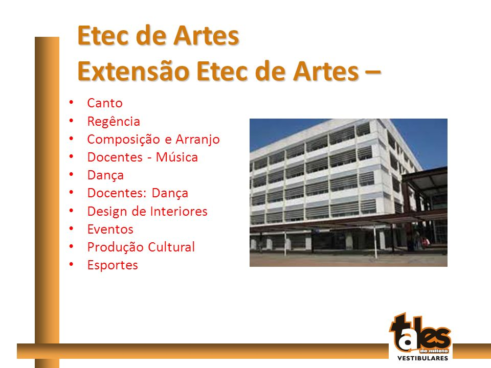 Extensão Etec de Artes –