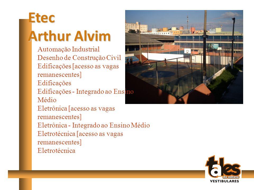Etec Arthur Alvim Automação Industrial Desenho de Construção Civil