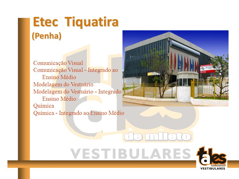 Etec Tiquatira (Penha) Comunicação Visual