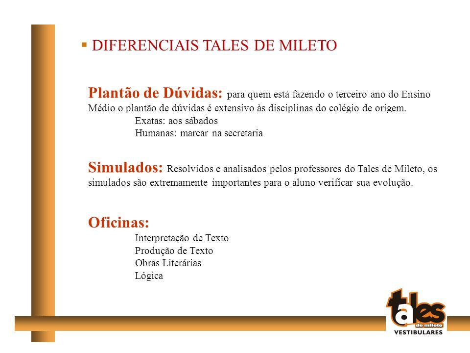 DIFERENCIAIS TALES DE MILETO
