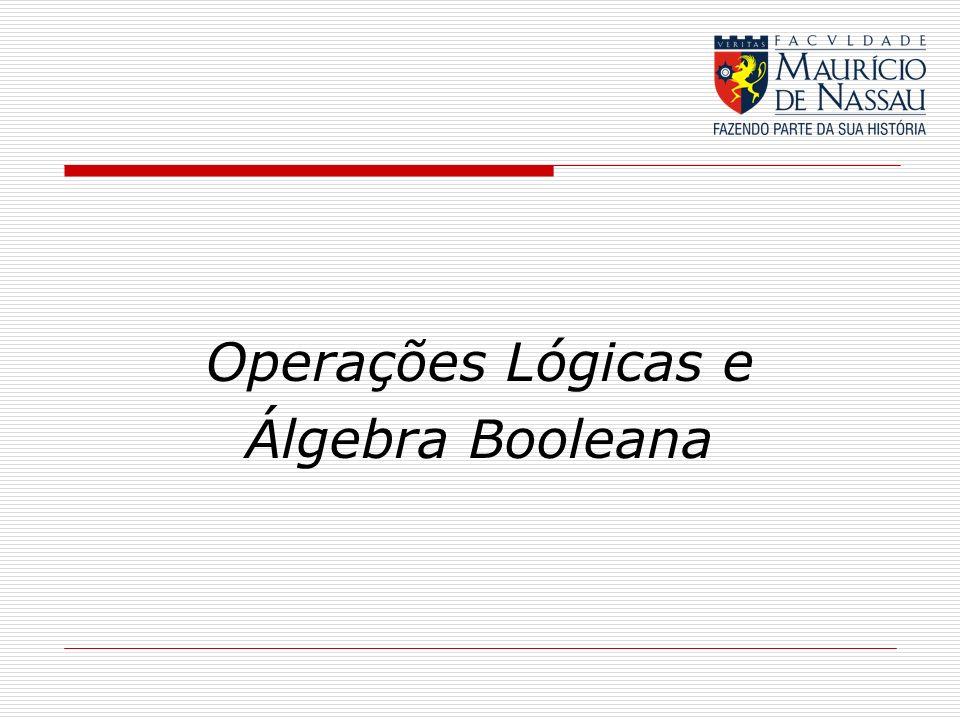 Operações Lógicas e Álgebra Booleana
