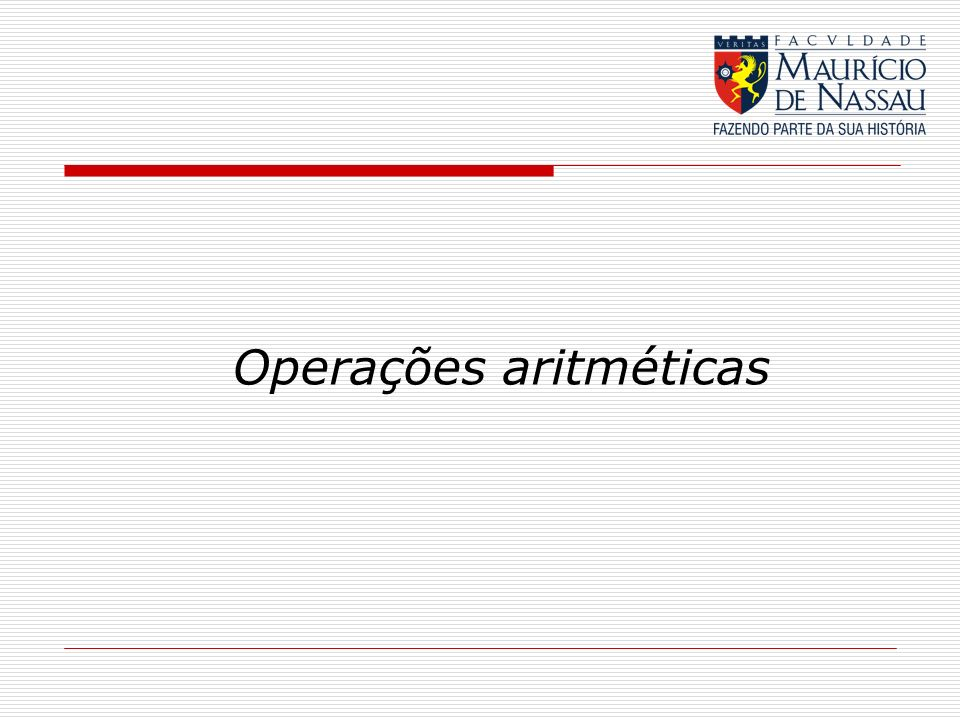 Operações aritméticas
