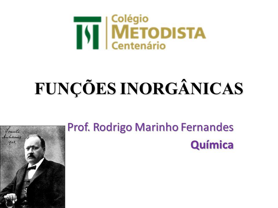 Prof. Rodrigo Marinho Fernandes Química