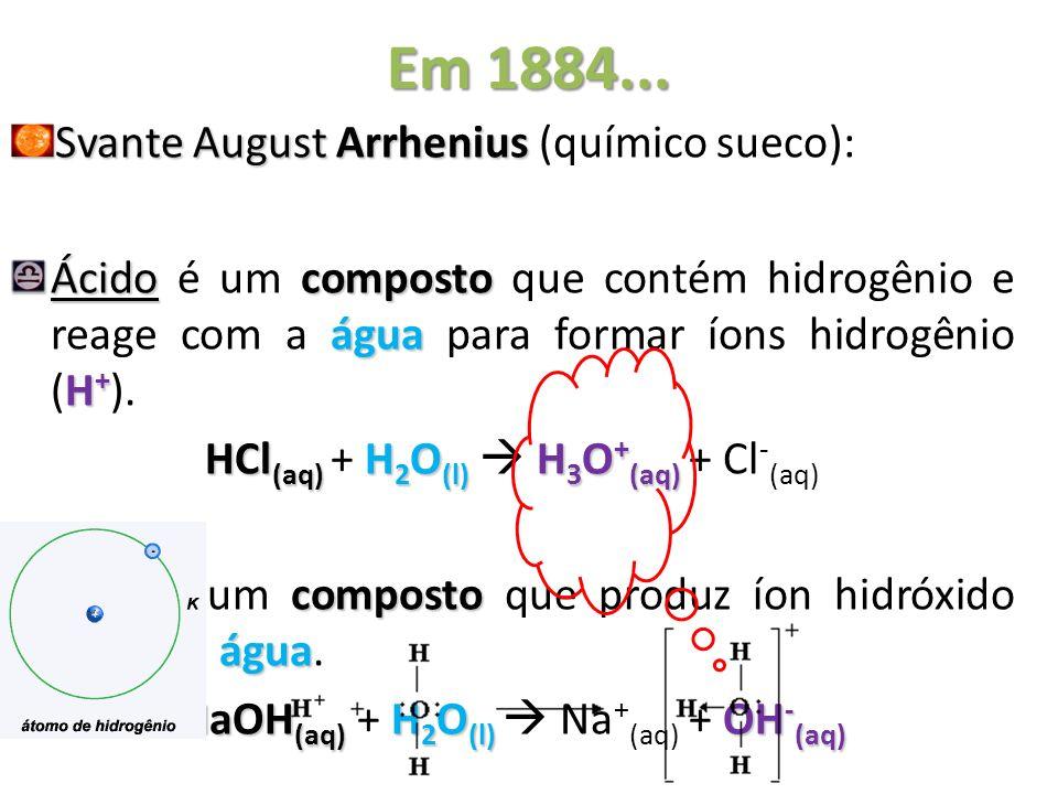 Em 1884... Svante August Arrhenius (químico sueco):