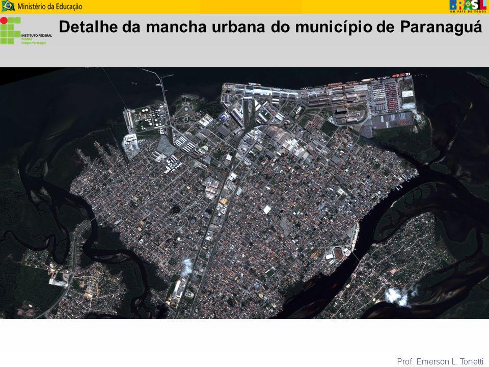 Detalhe da mancha urbana do município de Paranaguá