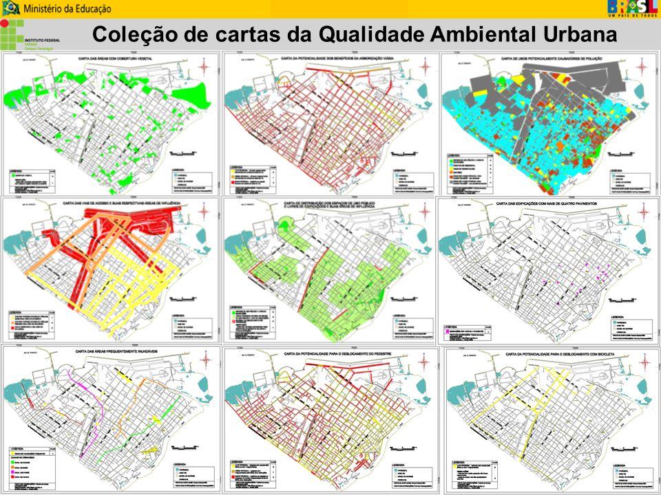Coleção de cartas da Qualidade Ambiental Urbana