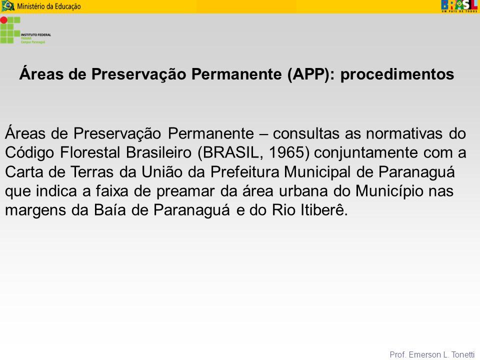 Áreas de Preservação Permanente (APP): procedimentos