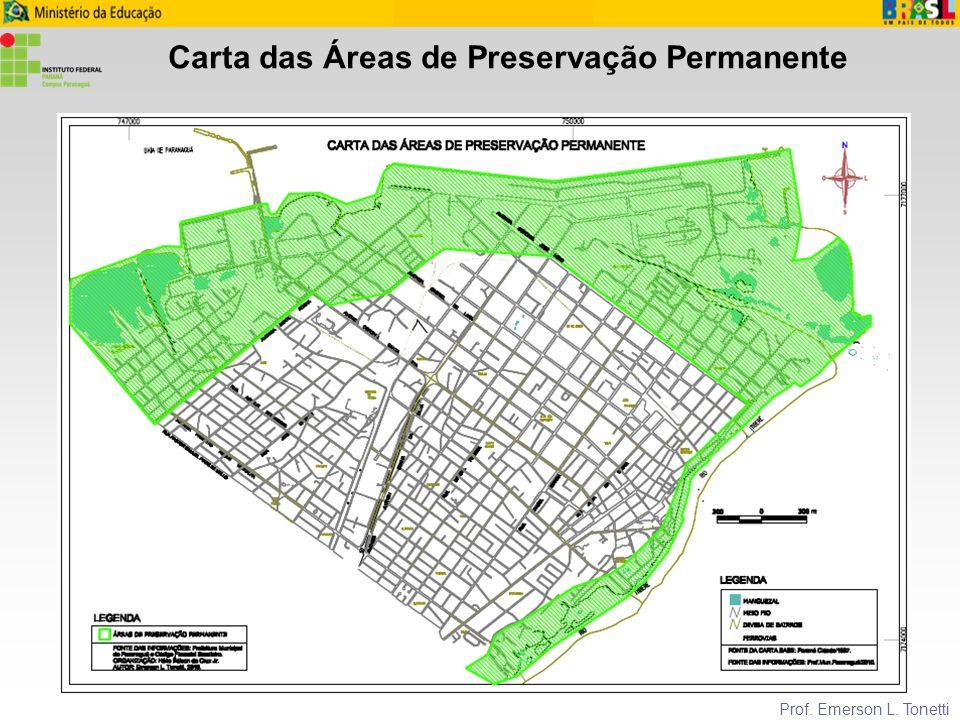 Carta das Áreas de Preservação Permanente