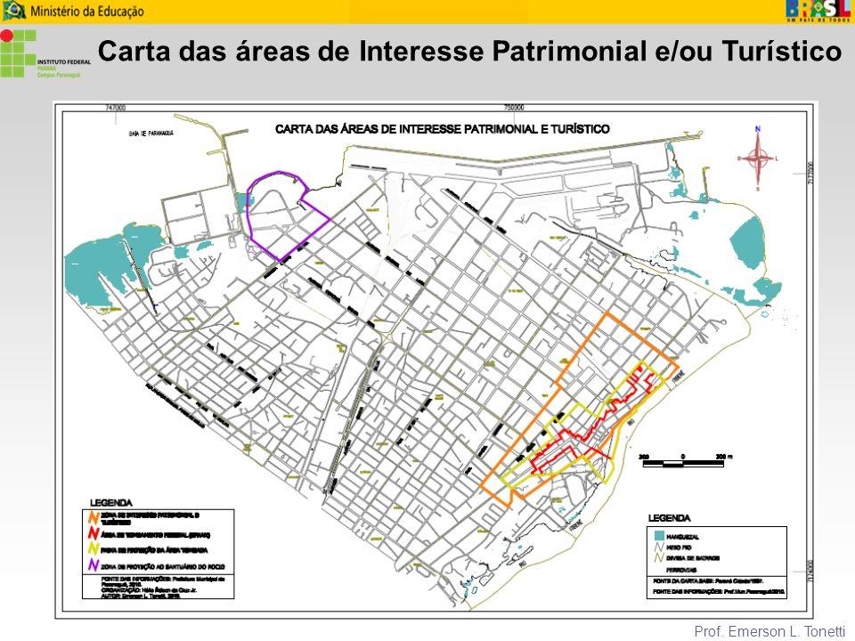 Carta das áreas de Interesse Patrimonial e/ou Turístico