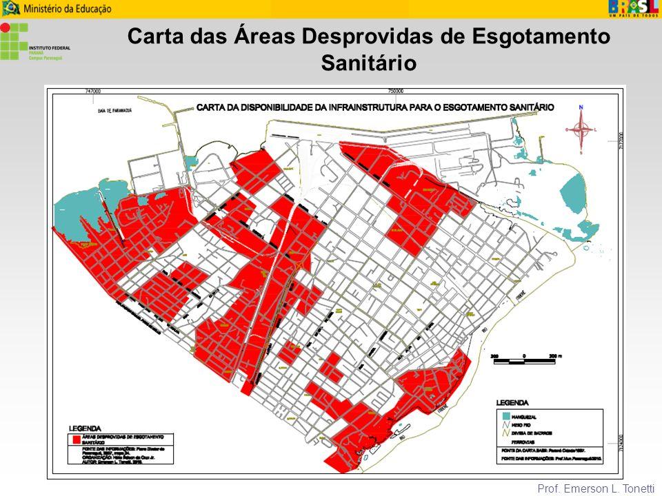 Carta das Áreas Desprovidas de Esgotamento Sanitário