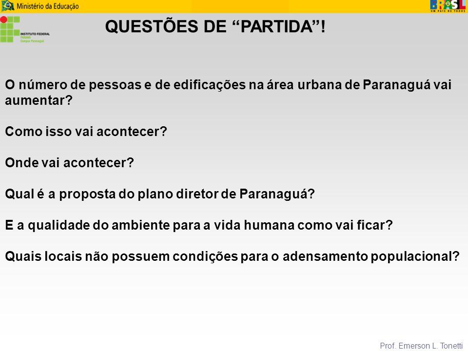 QUESTÕES DE PARTIDA ! O número de pessoas e de edificações na área urbana de Paranaguá vai aumentar