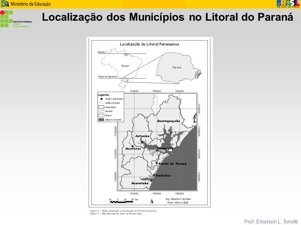 Localização dos Municípios no Litoral do Paraná