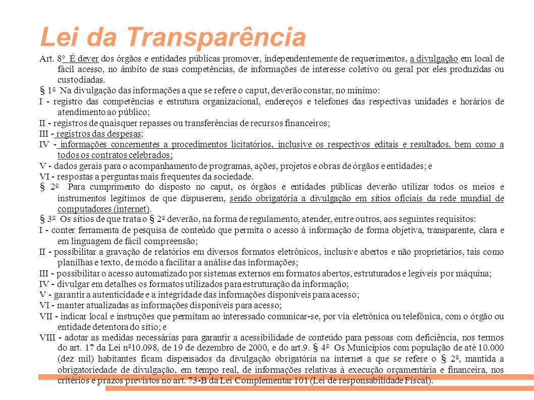 Lei da Transparência