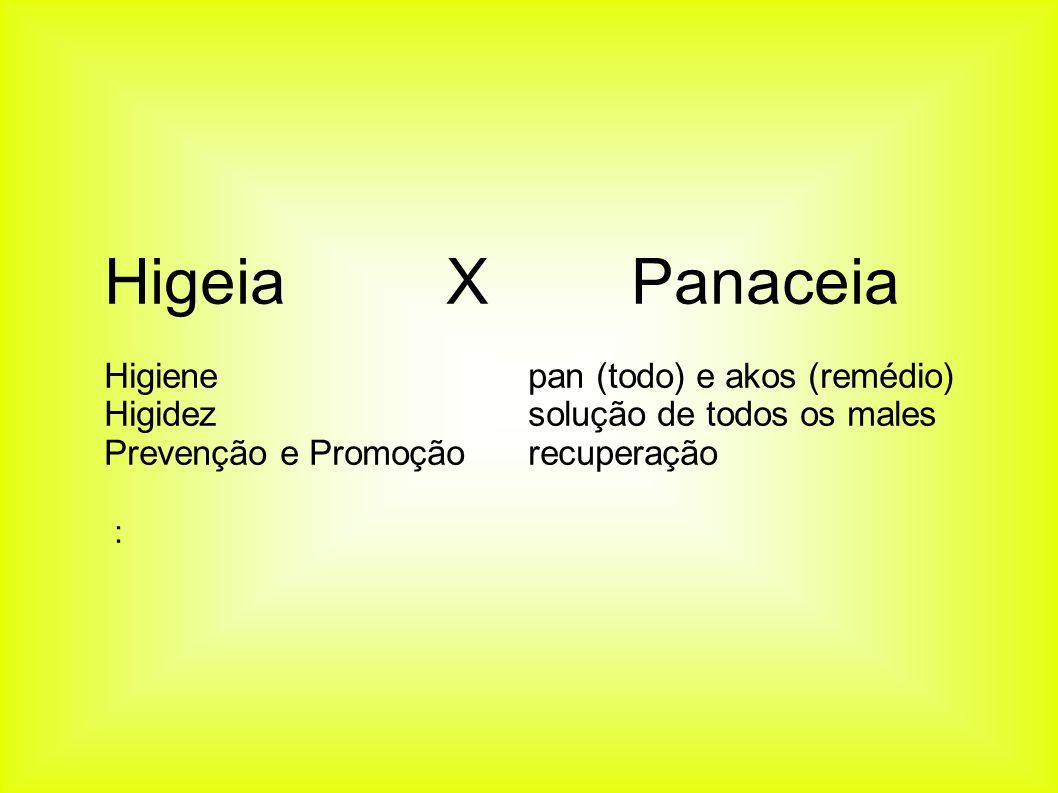 Higeia X Panaceia Higiene pan (todo) e akos (remédio)