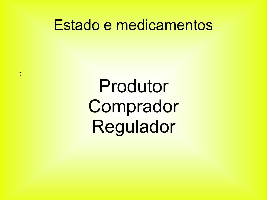 Produtor Comprador Regulador Estado e medicamentos :