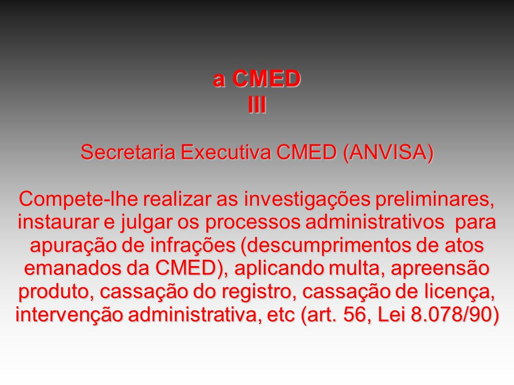 Secretaria Executiva CMED (ANVISA)